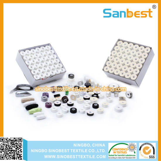 Prewound Bobbins Thread for Embroidery and Sewing From Initial Factory
