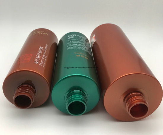 High Quality Cylindrical Plastic Bottles for Cosmetic Packaging pictures & photos