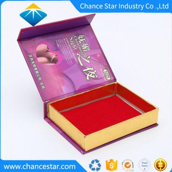 Custom Printed Book Shaped Cardboard Cosmetics Package Box