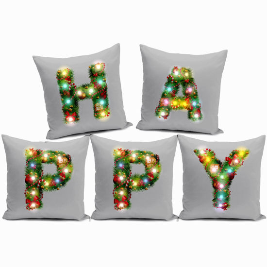Wholesale Hot-Selling Christmas Decoration Ornaments Pillow Case Sofa Home Cushion Cover Promotional Gift Decorations