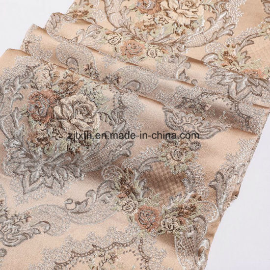 100 Polyester Spun Jacquard Italy Machine Woven Fabric for Sofa