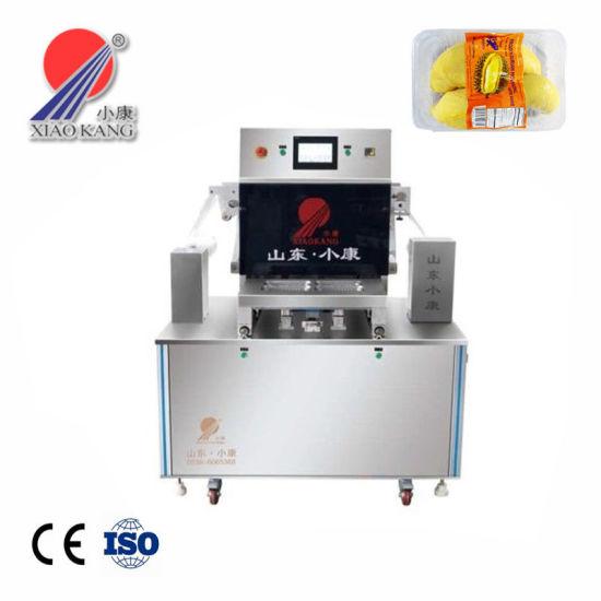 Automatic Cutting Food Map Vacuum Tray Sealer Machine with Nitrogen Gas Flushing