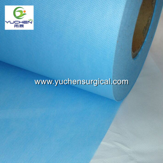 Medical PE Film Coated Viscose Non Woven Fabric pictures & photos