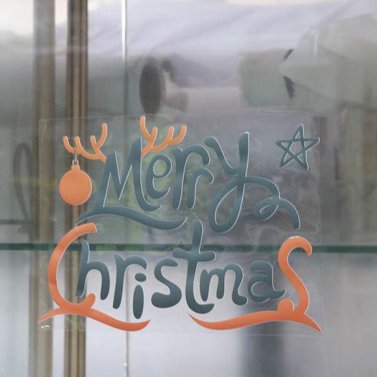 Wholesale PVC Vinyl Luxury Fashion Made Decorative Printing New Year Glass Sticker