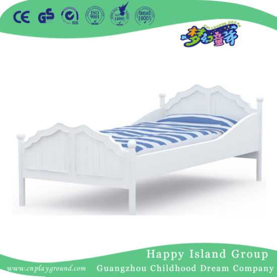 High Quality Wooden Kids Bed of White Aristocratic Series (HJ-6001)
