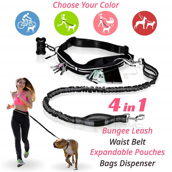 Premium Hands Free Dog Leash for Walking & Running Outside Activities