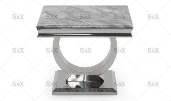 Stainless Steel Table with Artificial Marble Lamp Table/Side Table/End Table for Living Room pictures & photos