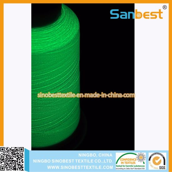 China Colorful Glow In The Dark Embroidery Thread For Underwear