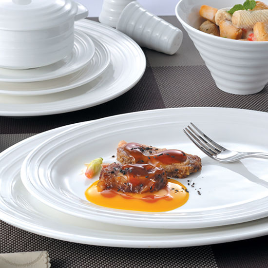 Hotel Collection Plates: China Hotel&Restaurant White Porcelain Banquet Plate
