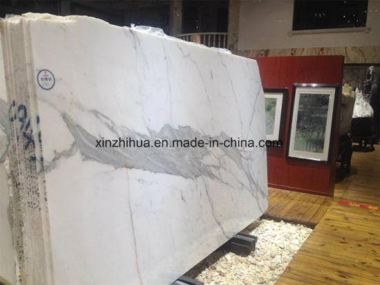 20mm 30mm 40mm Thick Bench Top Italy White Marble Slab Calacatta Calacutta Gold Statuario