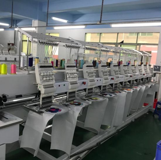 Chinese Computer Controlled 10 Heads Embroidery Machine with Software