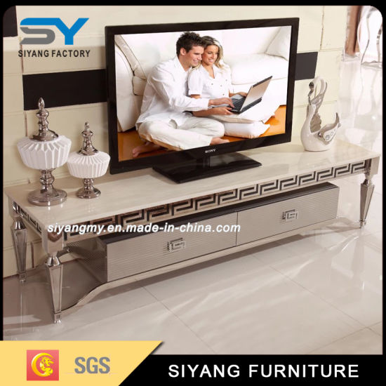 Modern Furniture Stainless Steel TV Unit Flat Pack TV Cabinet
