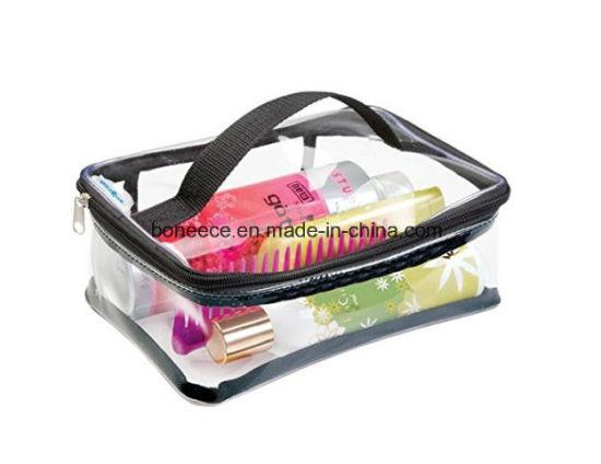 Transpa Makeup Kit Clear Toiletry Tote Bag Zipper Pvc Cosmetic