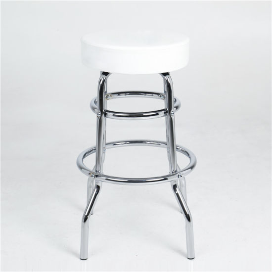 Tremendous Wholesale Pu Cover Bar Chair Stools White Two Ring Cheap Metal Bar Stool Beatyapartments Chair Design Images Beatyapartmentscom