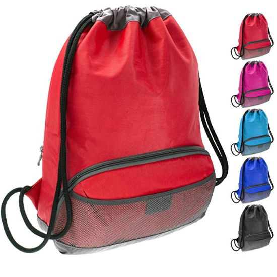 00f7a2a7992f0e China Waterproof Fabric Swim PE Gym Sports Bag Drawstring Sackpack ...