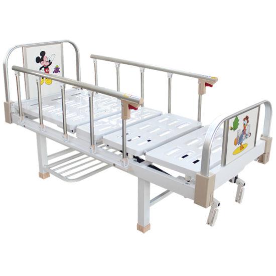 Moveable Hospital Furniture Metal Children Bed