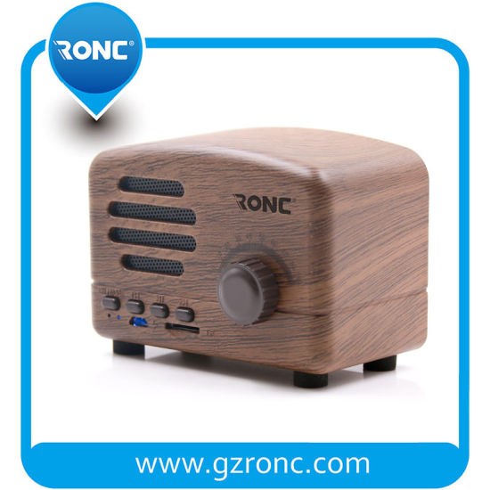 New Design Cheap Portable Vintage Wireless Wooden Bluetooth Speaker pictures & photos