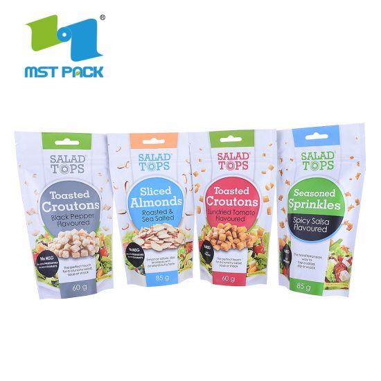 High Quality Plastic Biodegradable Compole Food Packaging Ziplock Bag