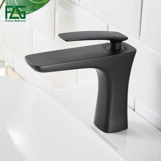 China Flg Black Painting Bathroom Waterfall for Wholesale Faucet ...