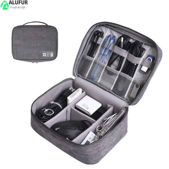 Double Layer Travel Electronic Organizers for Cables Gadgets