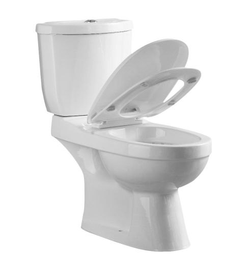 Chaozhou Sanitary Ware Bathroom Ceramic Two Piece Wc Toilet with P-Trap (JY2101) pictures & photos