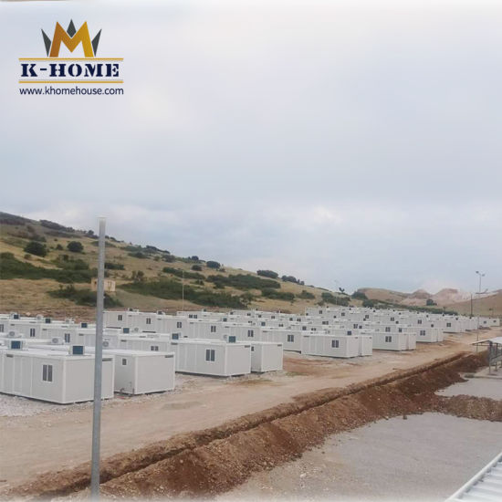 Steel Frame Prefab Portable Container Houses for Worker Quarter
