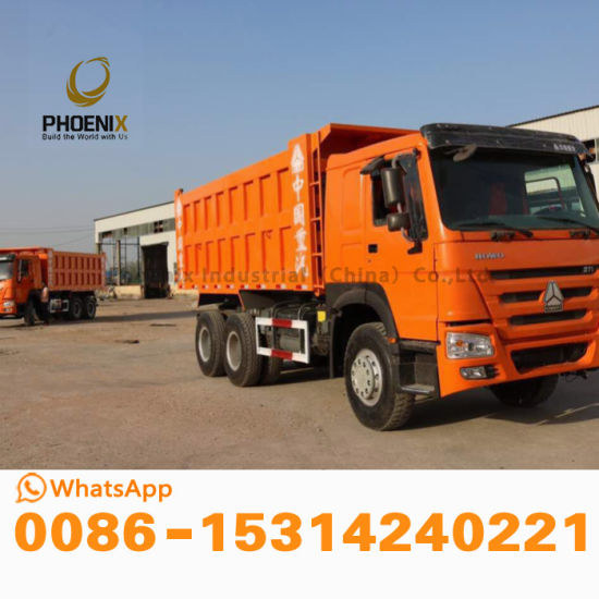 Very Good Condition HOWO Used Middle Lift Dump Truck with 10 Tires Tipper on Hot Sale in Africa
