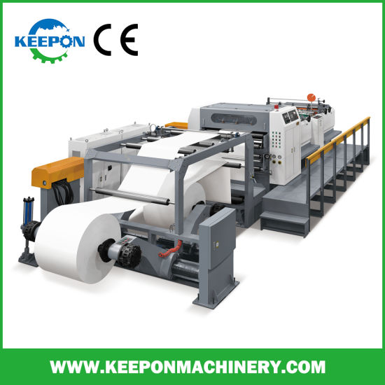 Servo Control Double Rotary Knife Paper Roll to Sheet Cutting Machine/High Speed Automatic Paper Sheeting Machine with Ce (SM model)