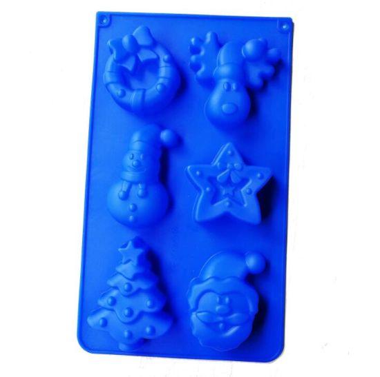Microwave Oven Silicone Bakeware Cake Mold Christmas Bear Old Man Christmas Tree Bell DIY Handmade Soap Mold