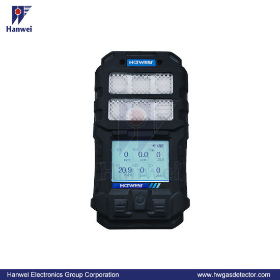 Handheld Gas Detector Multi Gas Monitoring Detector for Lel, Oxygen, H2s, Co and CO2 with IP66 Replace Gas Sensor Freely