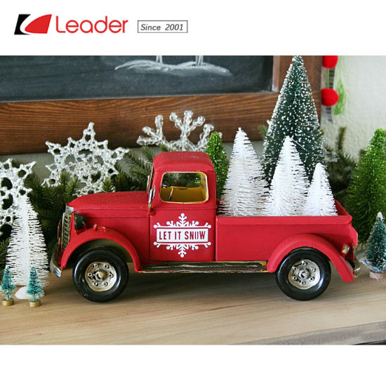 popular vintage inspired christmas metal red truck for home and garden decoration make your own metal truck planter