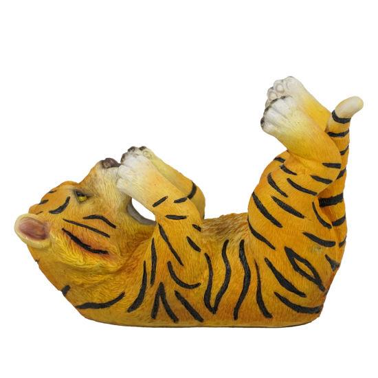 Resin Tiger Display Stand Statue Dining Room Decor Polyresin Animal Wine Bottle Holder