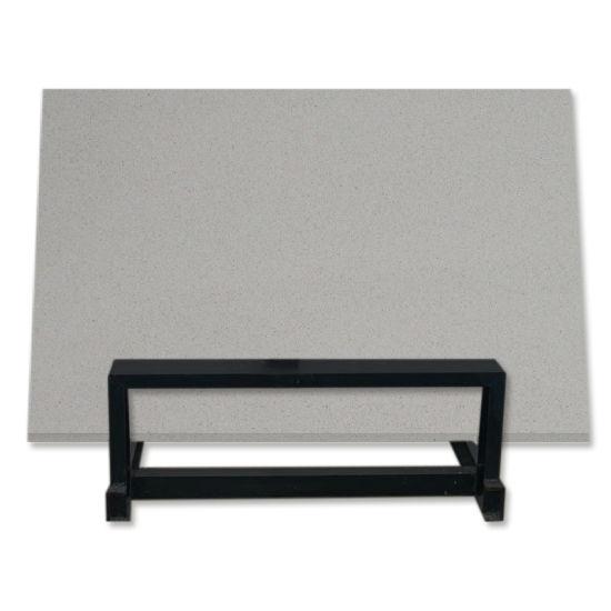 Prefab Engineered Natural Marble Floor Tiles Dark Black Artificial Quartz Slabs for Countertop Raw Material