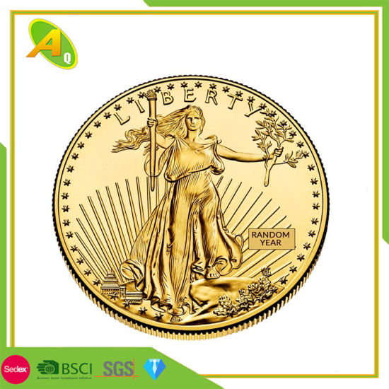 Metal Craft Promotional Customized Gold Plated Medal Zinc Alloy Enamel Coin Gift (279)