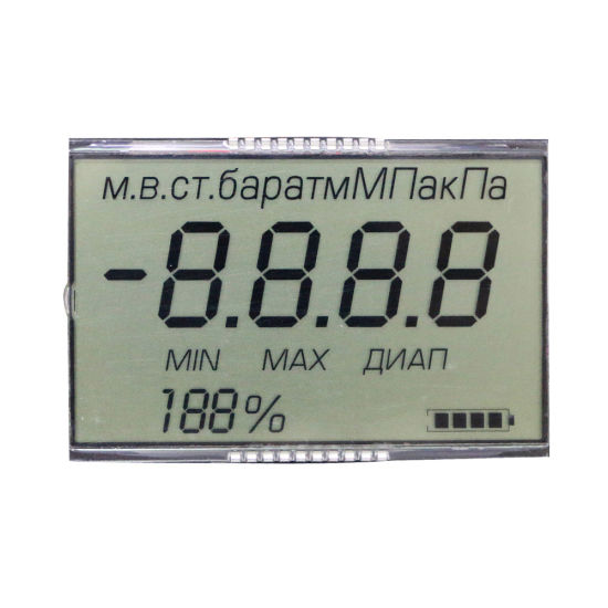 Factory Supply Custom 7segment Monochrome Tn LCD Display
