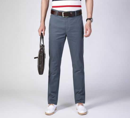China Customer-Design Customize Slim Straight Business Men′s Casual Pants -  China Casual Pants and Customized Pants price