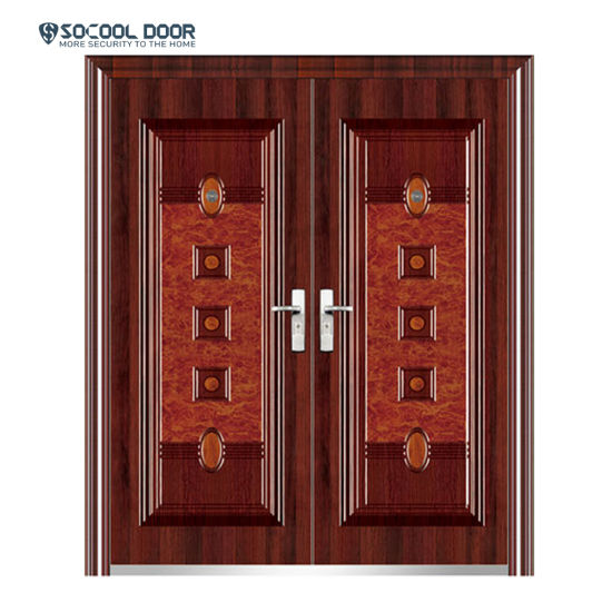 China Outside Wrought Iron Gates Models Steel Door House Main Gate China Iron Double Door Design Door