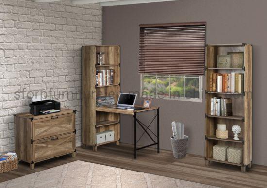 Wooden Rustic Oak Color Corner Desk