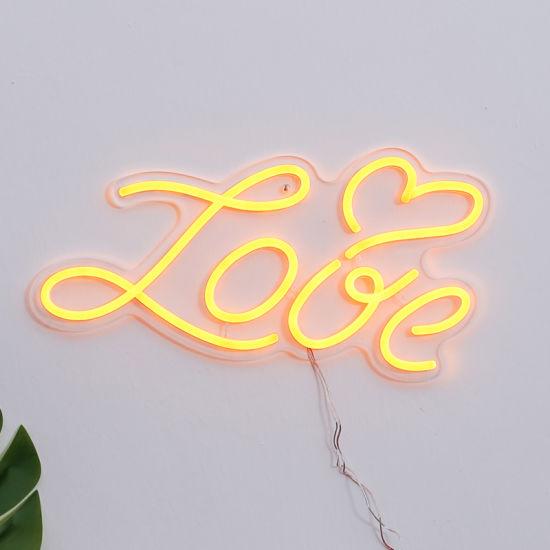 Custom Logo Outdoor Flexible Acrylic LED Neon Sign for Wedding