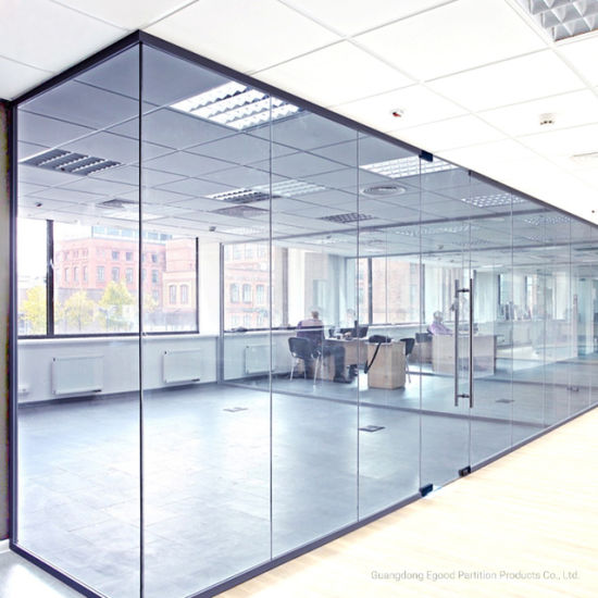 China 8mm Tempered Glass Partition Office Partition Aluminium ...