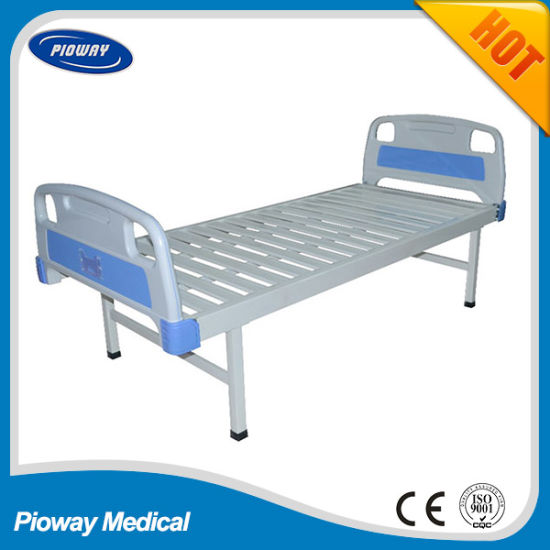 Hot Sale Cheapest ABS Head and Foot Flat Hospital Bed (PW-D01)