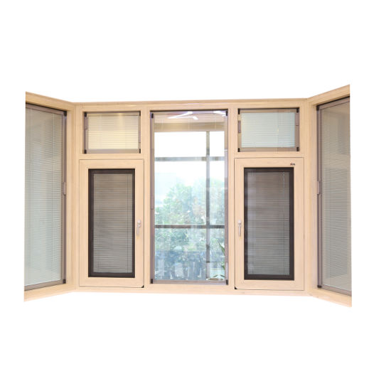 Thermal Break Double Glazed Aluminum Casement Window with Fly Screen India