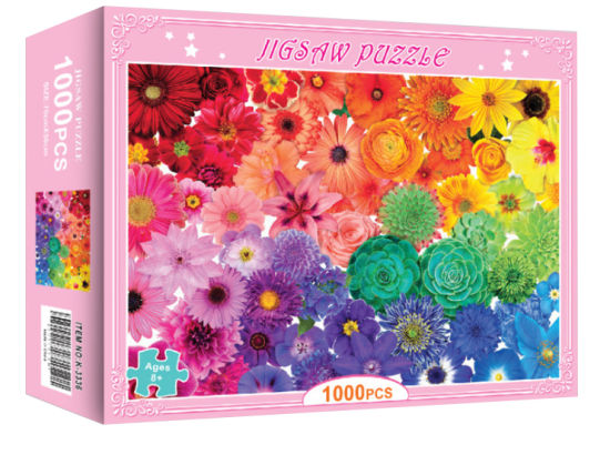 Personalized Customization 1000-1500 Piece Paper Sublimation Jigsaw Puzzle with Unique Funny Designs Packed with Box