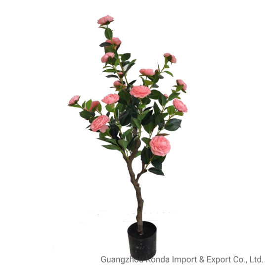 Hot Selling High-Quality Artificial Potted Indoor Decoration Artificial Camellia