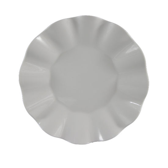 China 9 Inch White Flower Shape Melamine Dinner Plate And Dishes For Restaurant China 9 Inch White Melamine Plate And 9 Melamine Salad Dishes Price