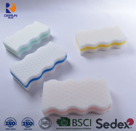 """Kitchen Products Cleaning Sponge """"Wave"""" Shape with """"Drum"""" Drops"""