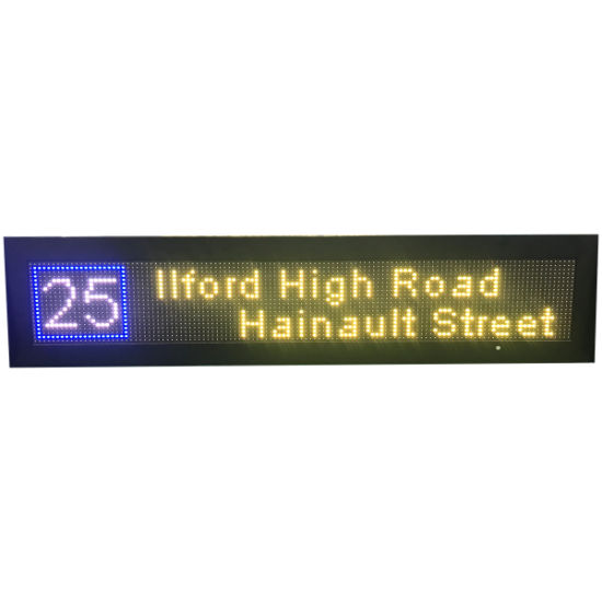 Programmable LED Scrolling Text Sign Destination Board on Bus