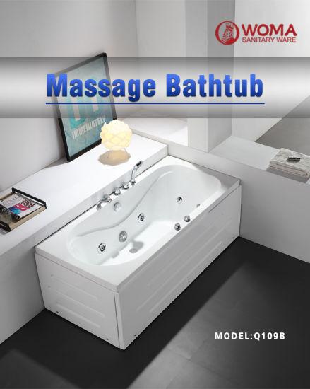 China Woma Acrylic Massage Bathtub Whirlpool Jacuzzi Hot Tub Price