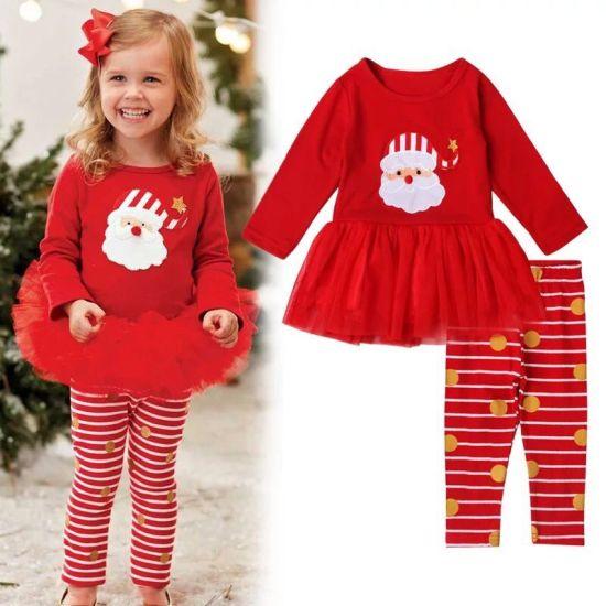 efd23ee81 China Best Selling Christmas Kids Clothing Set Wholesale 2PCS Set ...