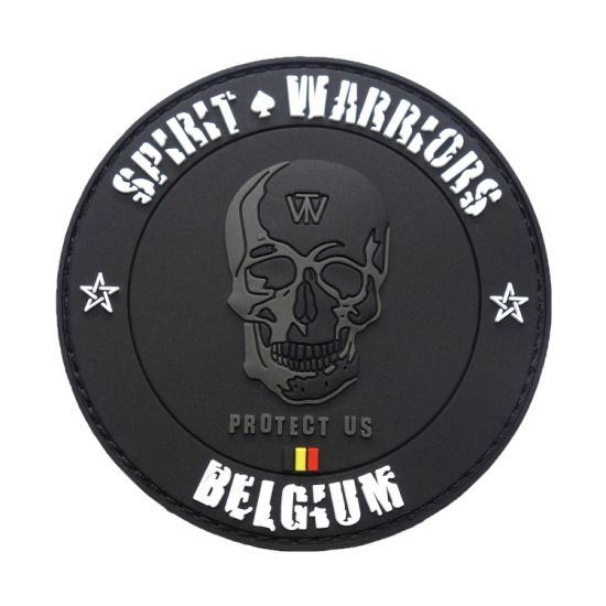 Custom Army PVC Rubber Morale Patch Ghost Skull Morale Patch